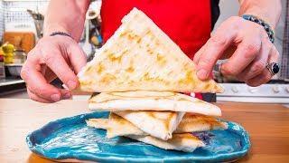Ленивые хачапури. Быстрая закуска из лаваша. Пирожки сыром, творогом и зеленью.