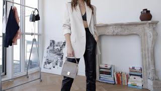 HOW TO STYLE LEATHER PANTS | Spring Outfit Ideas