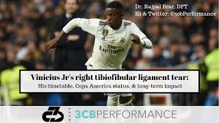 Real Madrid Vinicius Jr's right tibiofibular ligament injury: Explaining his return timetable