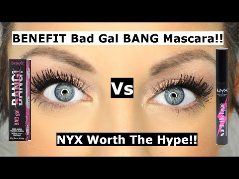 Benefit bad gal bang mascara Vs NYX worth the hype mascara | Is it a DUPE?