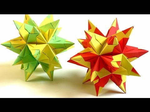 Modulares Origami - Bascetta-Stern falten (bascetta-star)