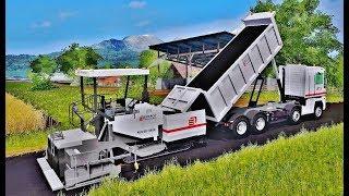 Farming Simulator 2017  NEW ASPHALT ROAD