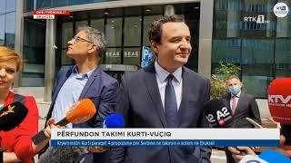 Drejtpërdrejt - Përfundon takimi Kurti - Vuçiq 15.06.2021