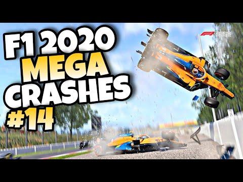 F1 2020 MEGA CRASHES #14