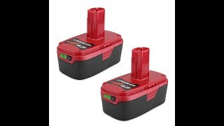 Revival of Craftsman 19.2v cordless tools by Biswaye Lithium Replacement Batteries.