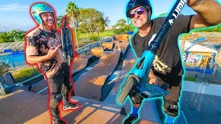 MEGA RAMP SCOOTER BATTLE! *GAME OF S.C.O.O.T.*