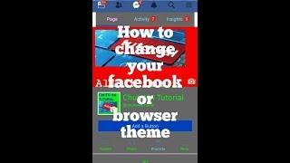 how to change facebook background theme 2018 - मुफ्त