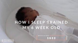 How I Sleep Trained My 6 Week Old Baby! Sleep Training Tips