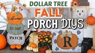 DIY DOLLAR TREE FALL PORCH DECOR | DIY FALL PORCH Dollar Tree | Krafts By Katelyn