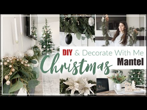 CHRISTMAS DECORATE WITH ME / DIY Christmas Mantel Decorating Ideas / Momma From SCratch