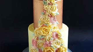 Two Tier Buttercream Floral Spray Cake- Rosies Dessert Spot