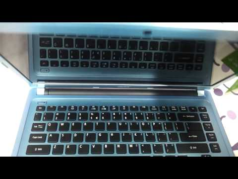 Acer aspire V5 431 blue pacific blue  ultraslim notebook full video review and first look in HD