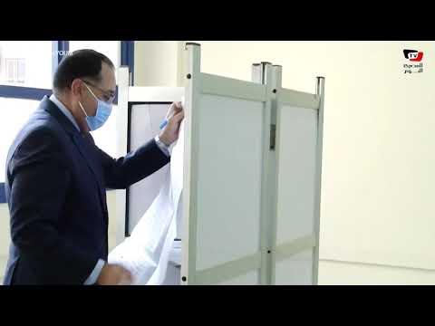 رئيس الوزراء يدلى بصوته فى انتخابات مجلس الشيوخ