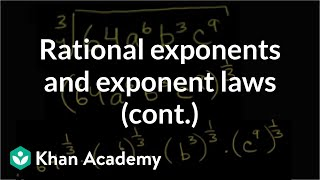 More Rational Exponents and Exponent Laws