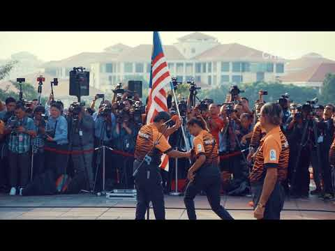 Flag Hand Over Ceremony to Malaysian Contingent for Asian Games Jakarta-Palembang 2018