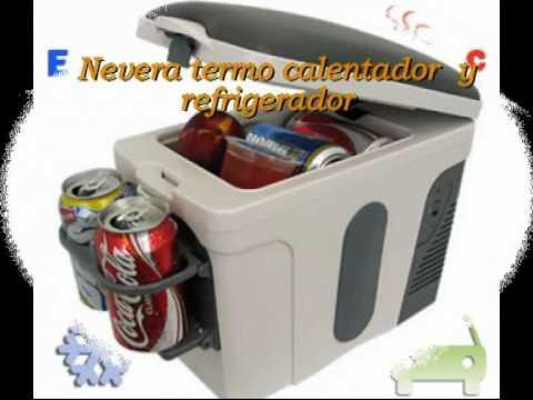 Nevera termo calentador y refrigerador portatil para el coche