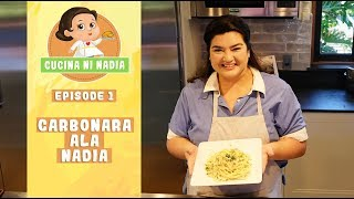 Carbonara Recipe Ala Nadia | How to cook Creamy Pasta Carbonara Filipino Style Recipe
