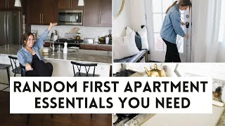 FIRST APARTMENT ESSENTIALS | Random First Apartment Products I Cant Live Without