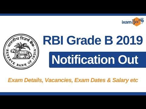 RBI Grade B Notification 2019 : Exam Dates, Salary and Syllabus