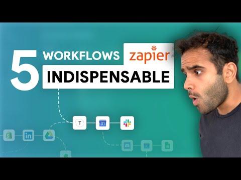 5 Workflows Zapier pour gagner en productivité