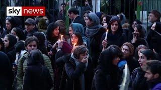 Plane crash: Iranian protesters call for Supreme Leader to resign
