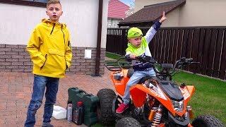 Первое ТО квадрика. ТЕСТИРУЮ квадрик!!!?New SUPER Car Ride On POWER WHEEL and Review Toys Video