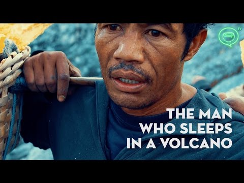 Kawah Ijen Sulfur Mine In Indonesia | The Man Who Sleeps In A Volcano | Coconuts TV