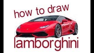 Як намалювати Ламборджіні, малюємо спортивну машину, #Kids, #YouTubeKids