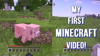 My First Minecraft Video - Let