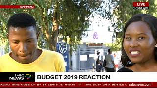 Budget 2019 | North West University students react