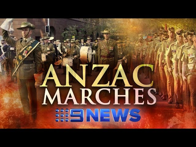 Crowds line streets across country as veterans march on ANZAC Day | Nine News Australia