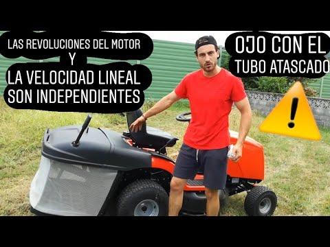 Cómo usar un tractor CORTACESPED