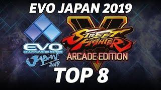 EVO JAPAN 2019 ► SFV, TOP 8, GRAND FINALS, MOMOCHI, FUUDO, PUNK, NEMO, JYOBIN, POWELL