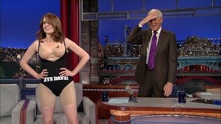 Tina Fey Strips Down to Her Spanx in Honor of David Letterman