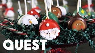 Making Christmas Truffle Cake Pops! | Food Factory