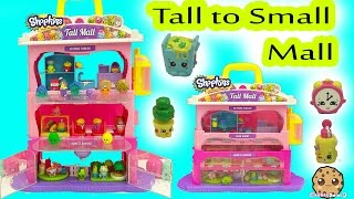 Shopkins Tall Mall Playset From Big to Small with Season 5 Shopkins Exclusives