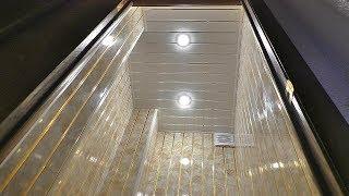 Насколько прочны пластиковые панели за 200 рублей. Проверка панелей ПВХ на прочность весом в 100 кг