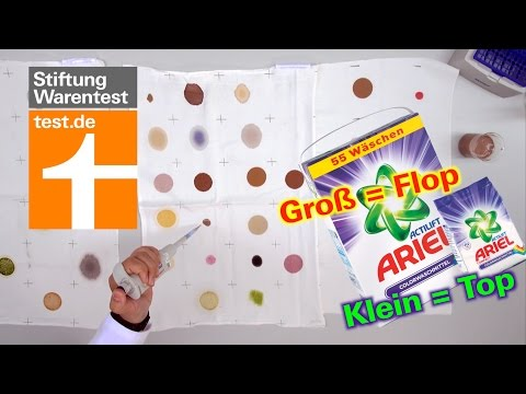 Test Colorwaschmittel: Ariel mal top, mal flop