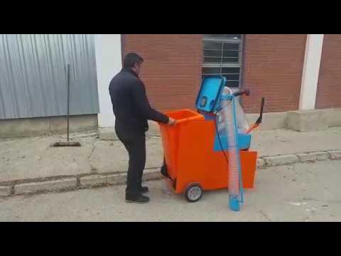 Yaprak ve Çöp Toplama Makinesi, 120 lt Yaprak Çöp Toplama Makinası