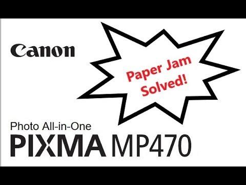 how to slove paper jam problem canon pixma G1000 printer - смотреть