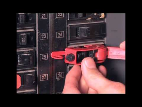 Screen capture of Master Lock Safety 493B - Grip Tight™ Circuit Breaker Lockout