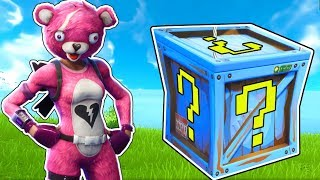LUCKY BLOCK CHALLENGE IN FORTNITE BATTLE ROYALE!!!