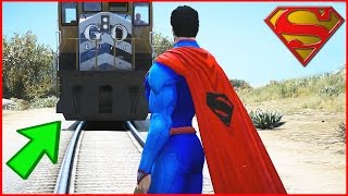 Can SUPERMAN STOP the Train in GTA 5 ?
