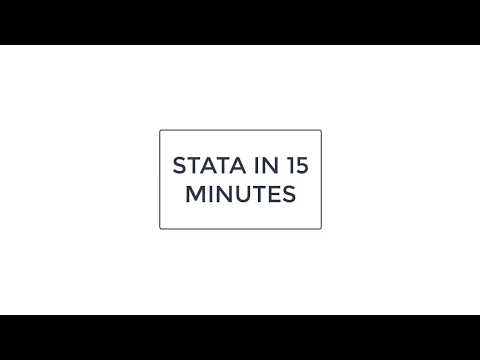 Learn STATA in 15 minutes