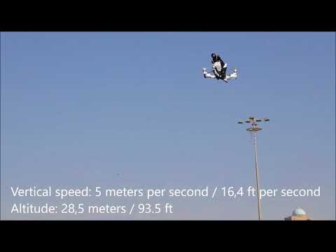 Hoverbike vertical speed and altitude - World's RECORD!!!