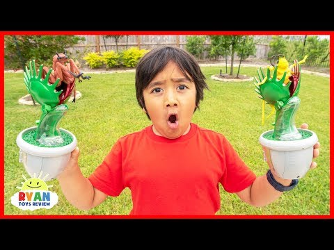 Ryan Learns about Carnivorous Plants |  Educational Video for Kids with Ryan ToysReview