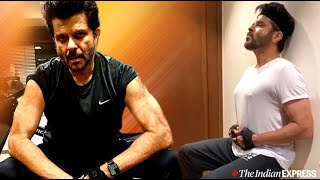 Anil Kapoor does a no-equipment exercise that needs a lot of strength !! Workout during lockdown