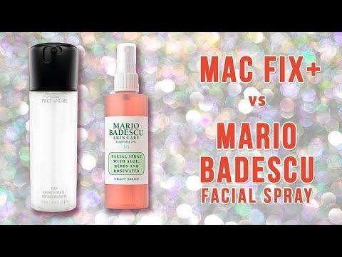 MAC Fix ($25) + vs Mario Badescu ($12) Setting Spray | Primetime Beauty