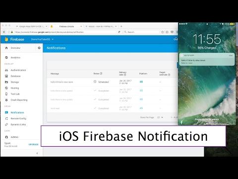 44- iOS || Firebase push Notifications|| ارسال التنبيهات من الخادم