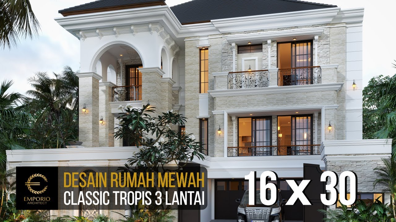 Video 3D Mr. Yonathan Classic House 3 Floors Design - Solo (Surakarta), Jawa Tengah